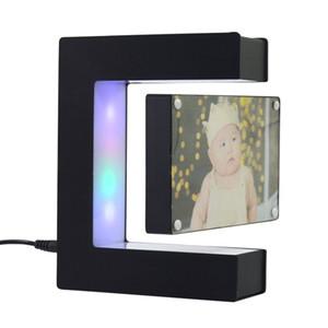 Dropshipping Levitação Magnética 3D Night Light Frame Lâmpada De Mesa Personalizado Gift CA Power Custom Lâmpada 2020 Novo