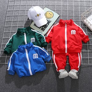 New Autumn Children Fashion Clothes Suit Kid Boys Girls Letter Hooded Jacket Pants Spring Infant Casual Sportswear