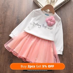 New Girls Dress Autumn Winter Cute Mesh Long Sleeve Princess Dress for Girl Kids Party Dress 2 6 7 Years Kids ClothingChristmas Y1201