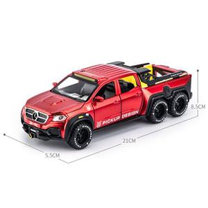 HBEKAARS 1:28 Diecasts Oyuncak Araçlar Model Araba X-Class Exy 6x6 Alaşım Metal Simülasyon Kamyon Boys için Oyuncaklar Geri Çekin Giftsq1221