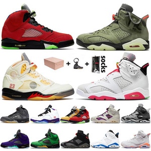 WITH BOX 2020 New Quality 5s Basketball Shoes WHAT THE Sail 6s Trainers JUMPMAN Cactus Jack Hare Mens Womens Off Sport Sneakers 36-47