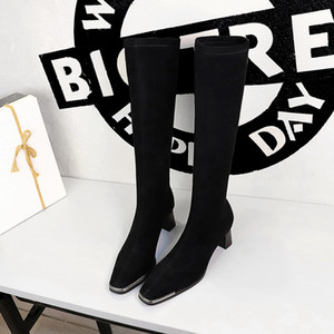 Plus size 34-40 New brand women boots thick high heels autumn winter boots cowboy western knee high boots women shoes