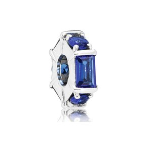 20 Panjia Beads S925 Sterling Silver Ocean Heart Blue Series_Bracelet Bracelet Pendant String Pendant Bead DIY Accessories Hot Selling