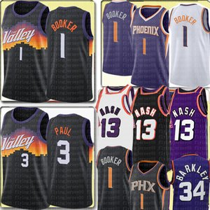 2021 devin 1 Booker Jersey New Chris 3 Paul Basketball Trikots Retro Mesh Steve 13 Nash Jersey Phoenix