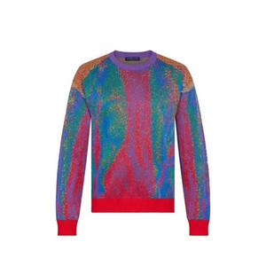 20SS Color Matching Jacquard Crewneck свитер толстовка улица мужчины женщины вязание пуловер толстовки осень зима теплые свитера hfymwy358