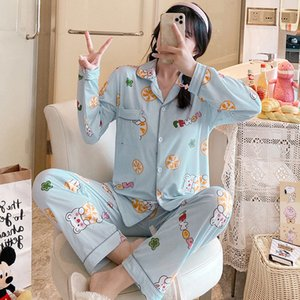 High-End High-Quality Pajamas Spring and Autumn Cardigan Long Sleeve Two-Piece Suit Princess Cartoon Can Be Outerwear Homewear
