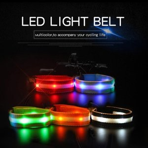Night running and cycling warning reflective safety belt bicycle leggings belt arm sleeves