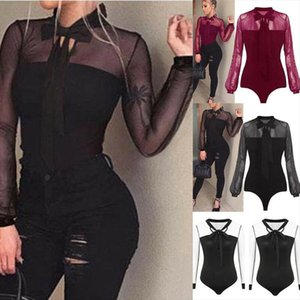 Women Long Sleeve Bodysuit Stretch Ladies Leotard Body Tops Tshirt Jumpsuit New Drop Shipping Good Quality
