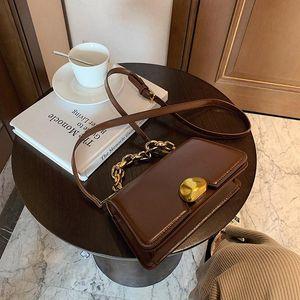 Luxury Women Crossbody Bags Design Retro Fashion Simplicity Casual Chain Messenger Shoulder Leather Handbag