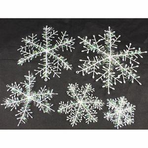 Christmas Snowflake Shop Window Decoration Snowflake Christmas Decoration Simulation Snowflake Christmas Tree Ornaments 5 Size XD24268