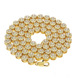 Iced Out Chains Gold Plated Hip Hop Bling Necklaces Jewelry CZ Gold Diamond Luxury Men Diamond Necklace Chains