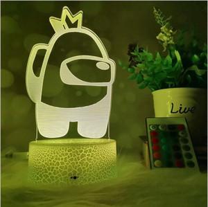 Unter den USA LED beleuchtet 3D Illusion Desktoplampe Kreative Rissstütze mit Fernbedienung Nachtlampen DHL Freies Verschiffen FWF3441