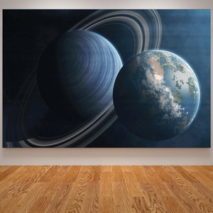 Solar System Earth Outer Space Cavnas Painting Moon Posters & Prints Wall Art Pictures for Living Room Modern Home Decoration