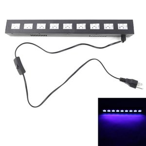 AC90V-240V 27W 9 LEDs Purple Brand new and high quality Lights Wedding Party Stage Lamp purple Top-grade material Lighting Black