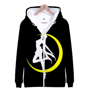 Sailor Moon Hoodie for Women Girl Kid Sweatshirt Hooded Jacket Zipper Coat Anime Sailormoon Clothes Clothing F1203