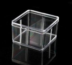 Quadratische Plastikbox 9,5 * 9,5 cm für kleine Zubehör Transparente PVC-Verpackungsboxen mit Abdeckbehälter