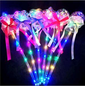 Giocattoli per feste vacanze Fiaba bacchetta bobo bobo palla magica bacchetta lampeggiante palla di Natale regali di Natale giocattoli luminosi per bambini