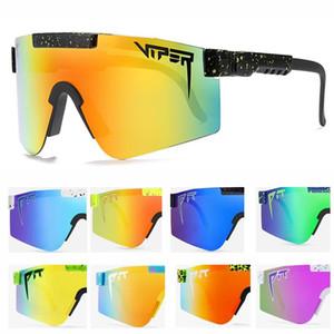الماركة الأصلية المتضخم windproof الرياضة الاستقطاب النظارات الشمسية للرجال / نساء tr90 الإطار تعكس عدسة uv400 حفرة الافعى oculos