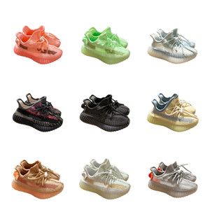 Infant 2020 News Kanye 3M GID Pink Glow Tailgate West Kids Running Shoes Cinder Linen Reflective Lundmark Small Boys Girls Toddlers Sneakes