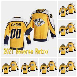 59 Roman Josi Nashville Predators 2021 Retro Retro Ryan Ellis Matt Duchene Pekka Rinne Johansen Richardson Forsberg Jersey Especial