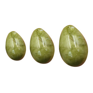 2020 Free shipping Drilled natural jade eggs massage 3pcs set yoni eggs For Face Body Massage kegel exercise