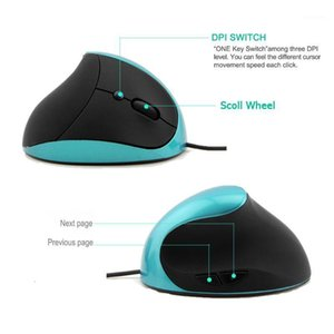 Office Game Accessories USB Portable High Precision Wired Vertical Mouse Ergonomic Mice Adjustable DPI Home Computer Optical1