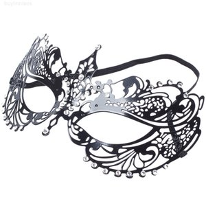 NEW-Venetian Style Style Cut Metal Filigree Masquerade Party Mask Diamante