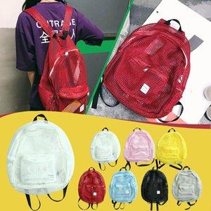 Fashion Candy Knapsack Women Transparent Bag Mesh Backpack For Boys Girls Light Weight Rucksack Travel Shoulder Bag 2020 New