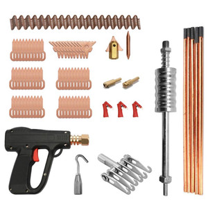 86pcs Dent Puller Kit Car Body Repairing Tools Spot Welding Electrodes Spotter Welder Machine Removing Dents Remover Device