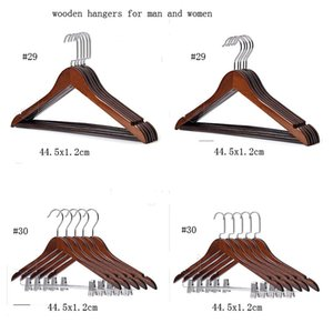 Solid Black Hook With Head Wood Rod For Men Hotel Clothes Women Hanger Round Guest Room Anti-theft Clothes Hang Cloth And Antique Windp Fwgb