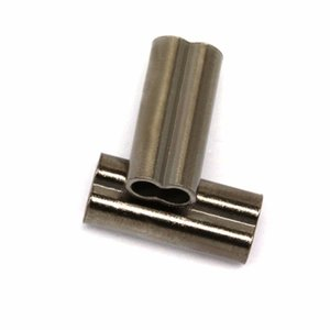 200 pcs Copper Fishing Crimp Sleeve for fishing wire Duplex Oval Crimping Sleeve fit for 0.8-2.8mm