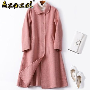 Spring Automne Coat Femme Coréen Vintage Vintage Longue Vêtements Pour femmes 2020 Outwear Pink Coats Veste Abrigo Mujer 918 Zt2521