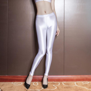 Oil Glossy Shiny Fitness Legging Hot Sexy Pencil Pants Push Up Leggings Body Shaping Trousers Women Clubwear Pantalon Streetwear