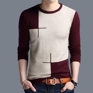 Nissexper Nova Moda Mola Mens Pullovers Simples Style Algodão Malha V Neck Sweater Jumpers Thin Male Knitwear