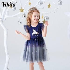 Vestido Infantil Kids Summer Princess Dress Girls Performance Costumes Children Birthday Party School Casual Unicorn Dresses Q1203 Q1203