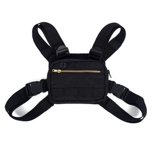 Punk Chest Bag Hip-Hop Tactical Streetwear Waist Pack Unisex Outdoor Functional Vest bags Harness Chest Rig Bag Women Fanny Pack Kanye West