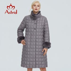 Astrid winter jacket women with fur collar design long thick cotton clothing fashion grid pattern warm women parka FR-2040 201125