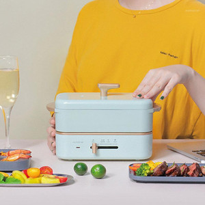 550W Elektrische Kochtopf Mini Multi-Kocher Reiskocher Tragbare Split Typ Hotpot Elektrische Lunchbox Pfanne Gebratene Pfanne 220v1