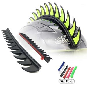 5 Color Reflective Rubber Dirt Biker Motocross Mohawk Biker Helmet Mohawks Spikes Motorcycle Helmet Mohawk Sticker1