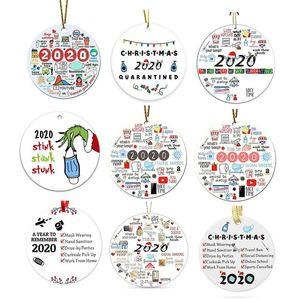 2020 al año para forjar Recordar Grinch Mano Navidad Ornamento Stink Stink Stunk Decoración de Navidad con máscara facial Colgante Colgante DHL Ship