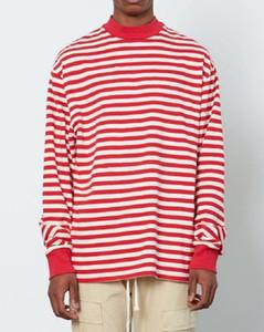 20ss Hip Hop Fear of God Fog Striped Loose Tee Skateboard Cool Tshirt FOG Men Women Cotton Long Sleeve Casual T Shirt