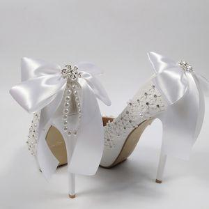 оптовые кисточкой Кристалл моды свадебные туфли невесты Высокие каблуки платформы обувь дамы Большой размер Круглый Toe партии ботинок платья женщина