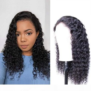 Top Quality Curly 360Lace Wig Unprocessed Brazilian Malaysian Peruvian Remy Hair Pre Plucked Hairline With Baby Hair Natural Color For women