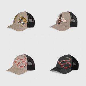 Classique top meilleure qualité serpent tigre bee toi toile de chat de baseball hommes avec boîte de poussière Sac mode femme chapeau chapeau chapeau chapeau 426887