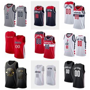HomensWashington.Wizards Bradley Beal Russell Westbrook Deni Avdija Rui Hachimura Robinson Qualquer jogador personaliza uma camisola de basquete
