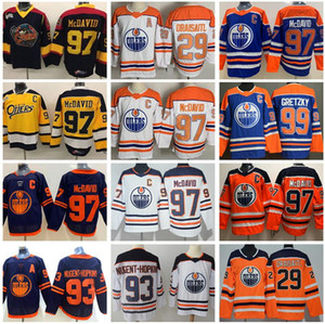 Revers Retro Edmonton Oilers Connor McDavid Jersey 97 College Otters Premier Hockey Ohl 29 Leon Drisaitl Ryan Nugent-Hopkins Wayne Gretzky