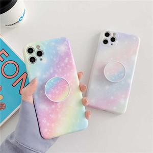 Cassa del telefono sky Stellato Starry Rainbow per iPhone 11 Pro Max 7plus 8 Plus XSMAX XR XS SE 2020 Cover in marmo IMD morbido Coque