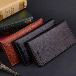 뜨거운 판매 패션 망 하이 엔드 Bifold 가죽 멀티 홀더 수표 지갑 긴 지갑 클러치 지갑 드롭 배송