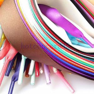 2020 lacci delle scarpe lacci piane con cravatta con zip cravatta rossa tappa colorata scarpe da stampa in plastica scarpe in silicone Shoelaces a buon mercato personalizzato 4 colori in 110 cm