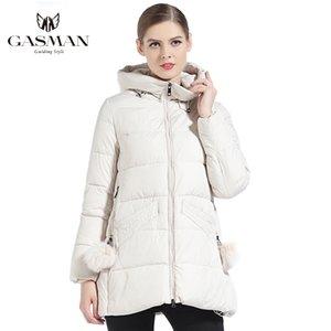 GASMAN Kadın Kış Coat Kapşonlu Kalınlaşma Moda Aşağı Ceket Marka Kadın Rüzgar Geçirmez Palto Kapşonlu Bio Aşağı Parka 18833 201019